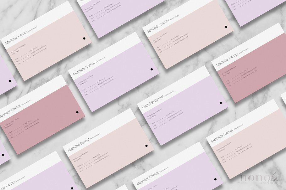 3 Pastel Business Cards • Mathilde in Business Card Templates