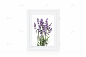"White 5x7"" frame isolated mockup"