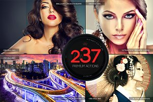 237 Premium Photoshop Actions