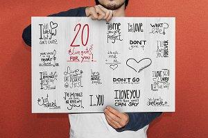 20 Love Quotes