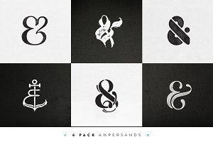 Custom Ampersands – 6 Pack