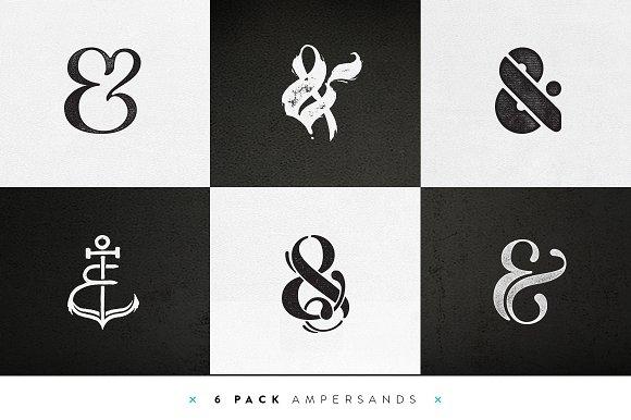 Custom Ampersands – 6 Pack