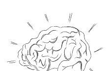 Human, brain, sketch, vector