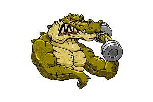 Crocodile bodybuilder
