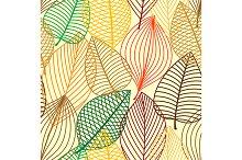 Outline autumn seamless pattern