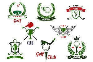 Golf game sport icons