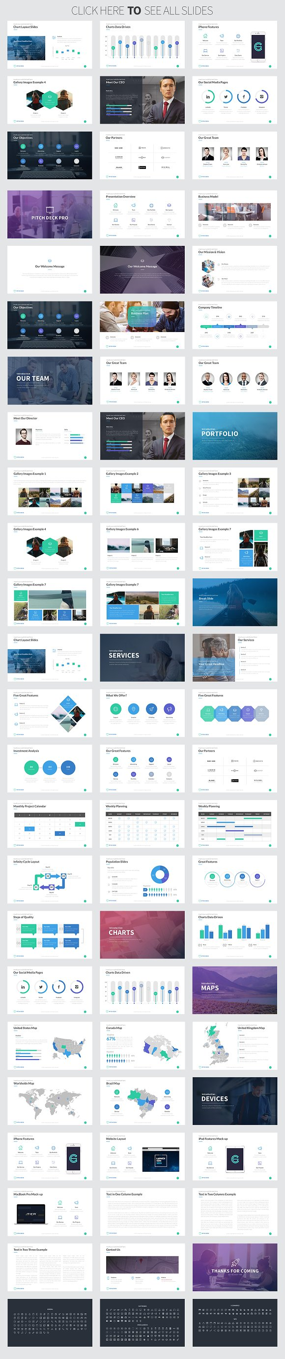 Pitch deck pro keynote template presentation templates creative pitch deck pro keynote template presentation templates creative market flashek Image collections