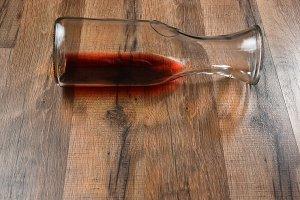 Wine Carafe on its Side