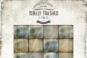 Distressed Plaid Background Textures