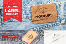 10 Clothing Label Mockups Vol. 3