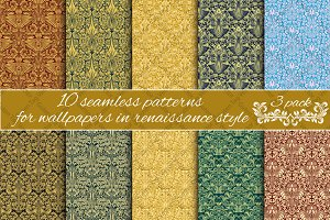 Renaissance seamless patterns Pack 3