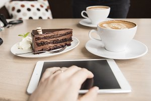 meeting with coffee and cake