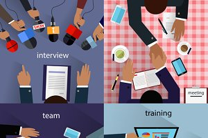 Interview and Meeting, Training Team