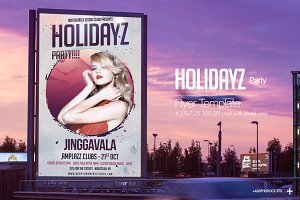 Holidayz Party Flyer