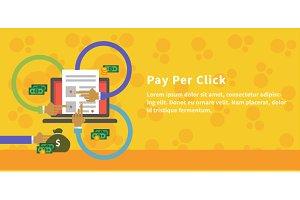 Pay Per Click Design Concept Style