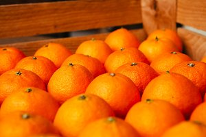 Fresh fruit tangerines