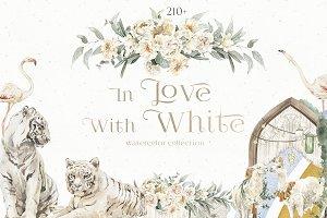 White Wedding Animals & Flowers