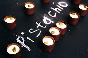 hocolate sweets with  Pistachio