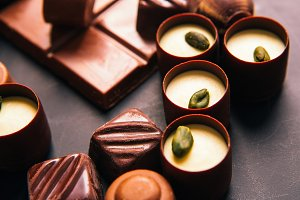 chocolate sweets with  Pistachio