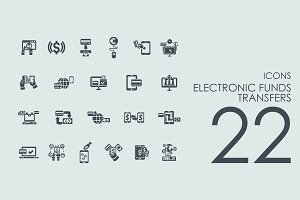 22 Electronic Funds Transfers icons