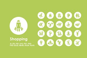 Shopping simple icons
