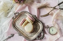 Macarons. Vintage style.