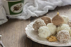 candy cottage cheese and coconut