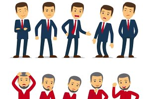 Businessman emotions