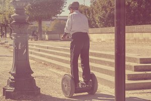 Man on Segway