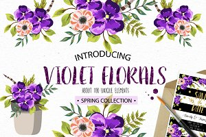 Violet Florals. Spring collection