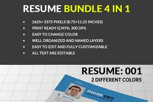 Resume Bundle 4 in 1