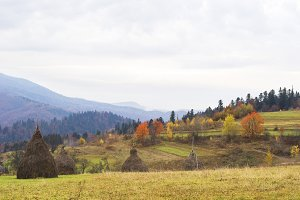 Carpathians mountain in autumn