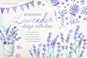 Watercolor Lavender Design Pack