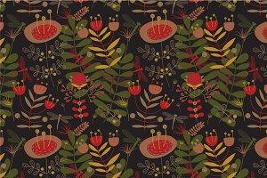 """Seamless pattern """"Mystical garden"""""""