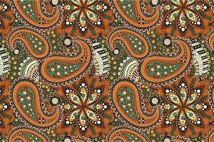"Seamless pattern ""Orange flowers"""