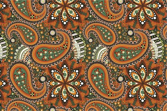"Seamless pattern ""Orange flowers"""