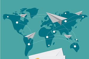 mail delivery, business, vector