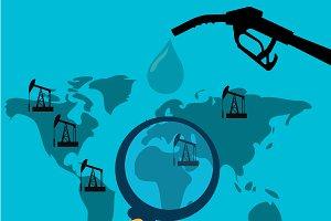 oil mining, crude oil concept