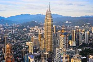 Kuala Lumpur beautiful skyline