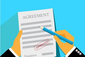 agreement, document, business