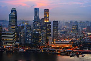 Business downtown of Singapore