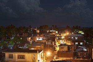 Slums in the night, Philippines