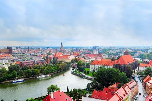Wroclaw panorama, Poland