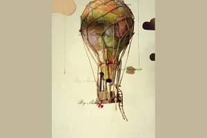 Strange steampunk Air balloon
