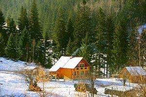 Carpathians Mountains home, Ukraine