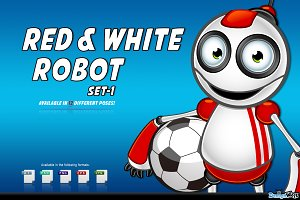 Red And White Robot – Set 1