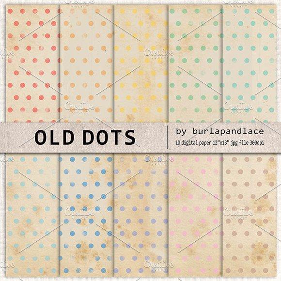 Old paper dots digital paper