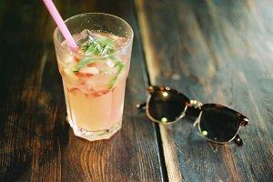 Cool drink & sunglasses