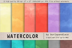 Watercolor digital paper II.