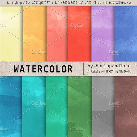 Watercolor digital paper II.